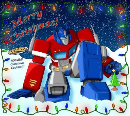 x-mas optimus prime