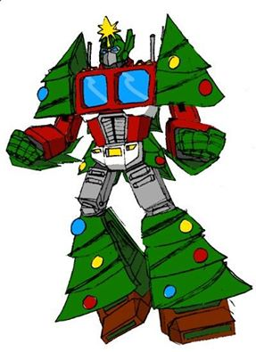 x-mas optimus tree