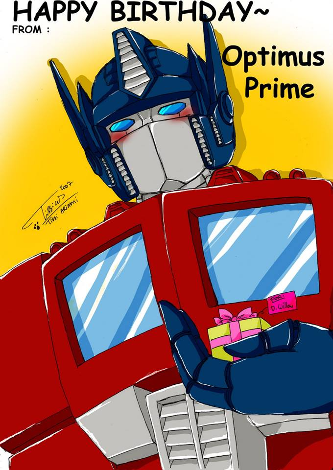 optimus birthday