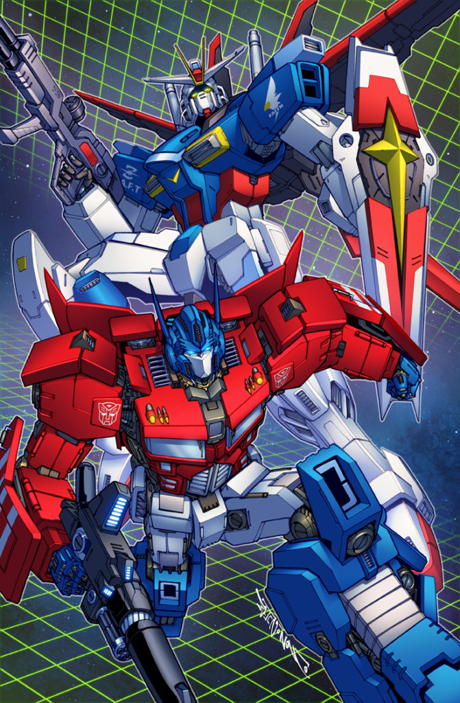 optimus and gundam