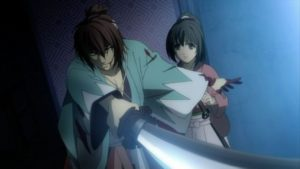 Okita_protecting_Chizuru
