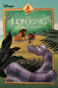 a snake in the grass the lion king